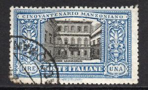 Italy Rare 1 Lire Stamp c1923 (Dec) Used (4702)