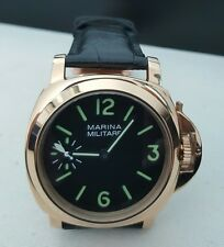 Marina Militare Men's Watch 44mm Luminor Homage - Mechanical Hand Wind - Parnis