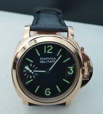 Rose Tone Marina Militare Men's Watch 44mm Mechanical Hand Wind - Luminor Homage