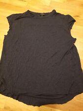 SEN Women's sleeveless, charcoal gray size 1, distressed