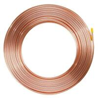 Brake Pipe Copper Line 6mm 25Ft Joiner Male Female Nuts Ends Tubing Joint Pipe