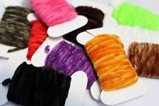 10 Colors Worms Rayon Yarn Tinsel Chenille Floss Thread Nymph Fly Tying Material