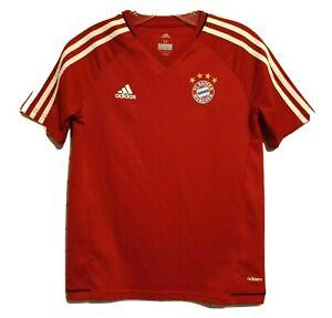 Bayern Munich FC Adidas Climacool Red Youth Football Soccer Jersey Medium