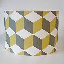 Mustard & Grey Geometric Design Fabric Ceiling Light or Lamp Shade