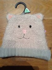 GREY CAT FACE SOFT HAT. AGE 2 to 4 YEARS. NEW WITH TAG.
