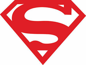 Vehicle Wall Window Vinyl Sticker 80s Super Hero Superman Logo Decal Display