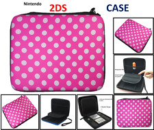 PINK (P.DOT) Carry Storage Hard Protective Case For Nintendo 2DS Game With Zip