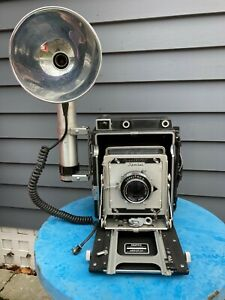 Vintage Graflex Crown Graphic Special press film camera 4x5 large format flash