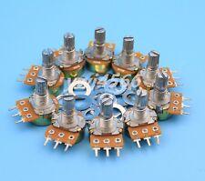 10Pcs B10K 10K Ohm Linear Taper MINI Potentiometer Pot 15mm 3Pin