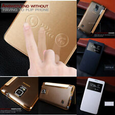 Ultra Thin & Super Light View Screen PU Leather Case Cover Samsung Galaxy Note 4