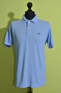 Lacoste Mens Polo Shirt Blue Size 6/XL