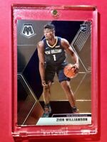 Zion Williamson PANINI MOSAIC HOT ROOKIE CARD 2019-20 RC #209 - Mint!
