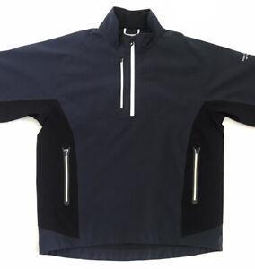 Footjoy FJ Dryjoys Tour XP Men's Golf Short Sleeve Rain Jacket Navy - Size M