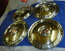1955, 1956 FORD USED ACCESSORY SET OF (4) LARGE Hubcaps, Wheel Covers.