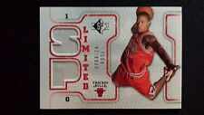 2008-09 UD SP Limited Derrick Rose Rc Dual Game Used Jersey Bulls Rookie