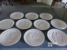 10 Frankoma collectors plates religious Christmas Guc