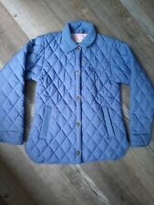 Tuff Rider Women's Quilted Barn Coat Size S Ride N Go Blue Equestrian Riding