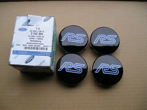 Ford FOCUS RS Mk3 Edition NEW, Wheel C/CAP X4 Black with RS  logo ,Genuine Part