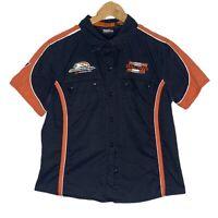 Harley Davidson Screaming Eagle Kids Unisex Button Up Shirt Size Large