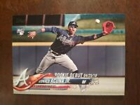 2018 Topps Update US252 Ronald Acuna Jr Rookie Debut RC Mint Condition