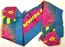"Volkl Ski Bag Vintage 1980s Retro Colors Rad Graphics 80"" Nylon Snow Ski Carrier"