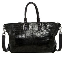 Liebeskind Berlin Chelsea Croc Embossed Black Leather Tote Bag New With Tag $348