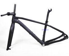 """27.5er 20.5"""" Carbon Frame MTB Bike Fork Handlebar Stem UD Matt Thru Axle Bb92"""