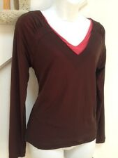 BANDOLINO Petite Double Layer BLOUSE, Size PXL New with tag