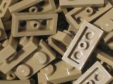 10 x plaque plate LEGO DkTan Dark Tan 1x2 ref 3023 / Set 10221 10211 7197 10196
