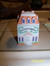 1989 The Lenox Spice Village Victorian House Jar Fine Porcelain ~Cinnamon