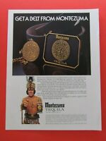 "1975 Montezuma Tequila The Noblest Tequila Original Regional Print Ad 8.5 x 11"""