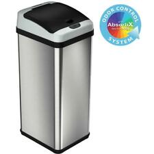 iTouchless 13 Gal. Stainless Steel  Extra-Wide Lid  Motion Sensing Trash Can