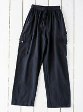 GRINGO fairtrade NEPALESE cotton CARGO TROUSERS baggy COMBATS hippy PANTS BLACK
