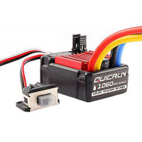 Hobbywing QuicRun 1060 60A Brushed Waterproof Motor ESC for 1/10 RC Car #GD