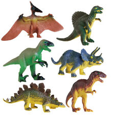 6Pcs Dinosaur Playset Animals Action Figures Set T Rex Triceratops Toy for Kids