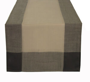 Fennco Styles Striped Border Tablecloth Table Runner for Everyday Use - 2 Colors