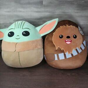 Grogu (Baby Yoda) & Chewbacca Squishmallow Star Wars 20in. Super Soft Plush