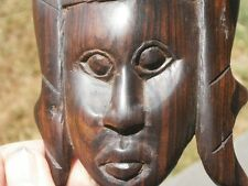 FACE - WOOD CARVING - 145mm high