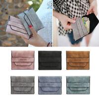 US Fashion Women Vintage Wallet PU Leather Long Card Holder Purse Handbag Clutch