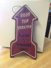 NEW Roof Top Parking Sleigh & Reindeer Only arrow christmas ornament-holidays