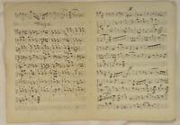 Walzer tanzen NOTEN Musik Handschrift Original Doppelblatt um 1790 Tanzmusik