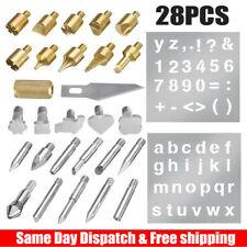 28pcs Wood Burning Set Tool Pen Pyrography Supplies Iron Tips Art Craft Kit