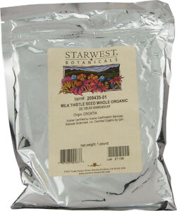 Organic Milk Thistle Seed Powder by Starwest Botanicals, 1 lbs