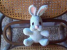 crochet stuffedblue 6in baby bunnyrabbit toy animal handmade nursery