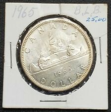 1965 Canada Silver $1 Dollar Coin - 80% Silver - Great Condition