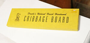 Drueke's Natural Finish Hardwood Cribbage Board Game Model 2050 Mint in Box