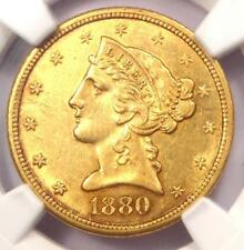 1880-CC Liberty Gold Half Eagle $5 Coin - NGC AU Details - Rare Carson City!