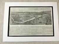 1853 Antique Print New Orleans Louisiana Mississippi River Americana