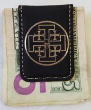 CIA NCS War Zone Service Benghazi Libya AFRICA Black Leather Money Clip