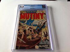 MUTINY 2 CGC 5.5 PRE CODE STORIES OF THE SEAS SHARK FINS COVER ARAGON COMICS